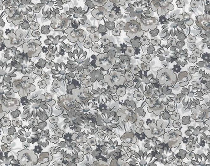 London Calling Lawn 6 - Floral Grey - 1/2 yard