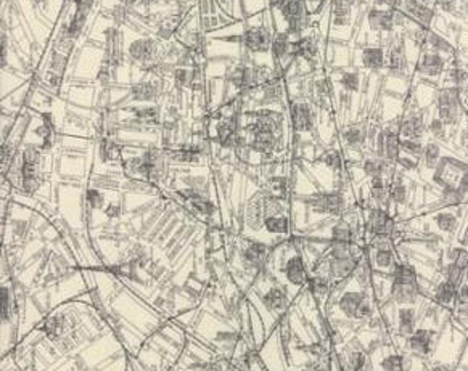 Passport by 3 Sisters - Paris Map - 1/2yd