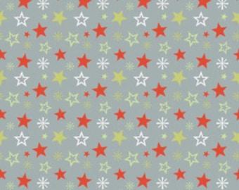 A Very Merry Christmas - Christmas Stars Gray - 1  yard
