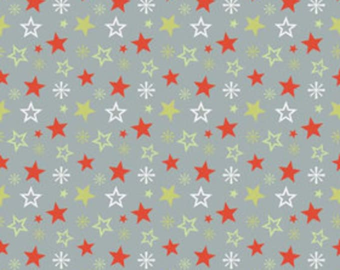 A Very Merry Christmas - Christmas Stars Gray - 1  yard