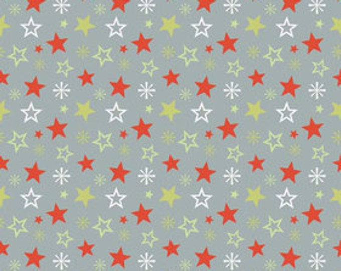 A Very Merry Christmas - Christmas Stars Gray - 1/2  yard