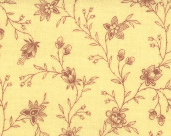 Lario by 3 Sisters - Leaves and Stems Toile - Buttercup - 1 yd