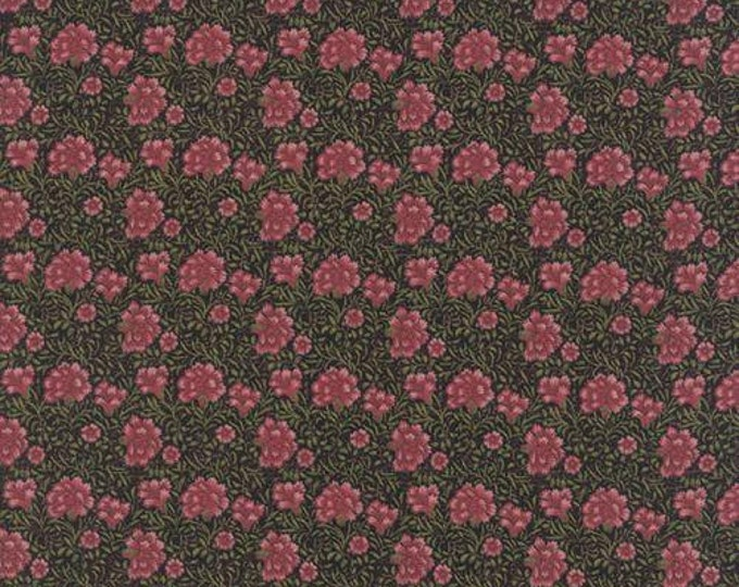 Morris Earthly Paradise Carnation Black - 1/2yd