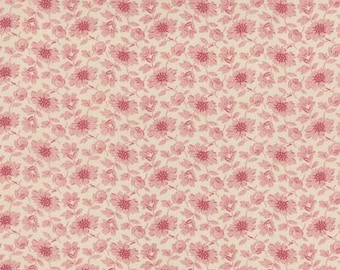 Ville Fleurie Perigueux Faded Red - 1/2yd