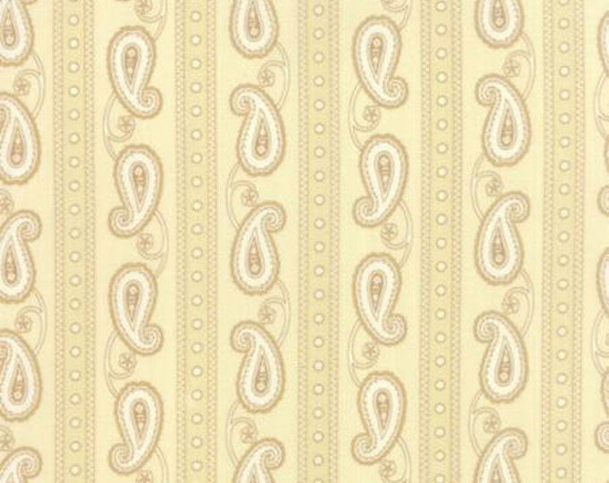 Polka Dots and Paisleys Paisley Stripe Cream - 1/2yd