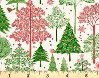 Christmas Forest 1974C - 1/2yd