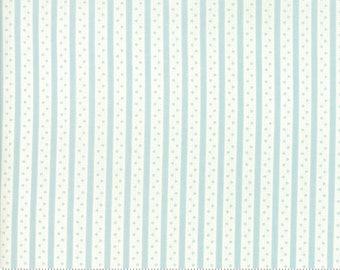 Caroline -  Ticking Stripe Aqua 1865611 - 1/2yd