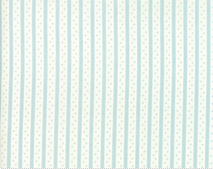 Caroline -  Ticking Stripe Aqua 1865611 - 1/2yd