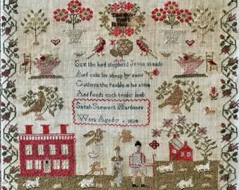 Sarah Stewart Hardman 1824 - NeedleWorkPress - Cross Stitch Chart