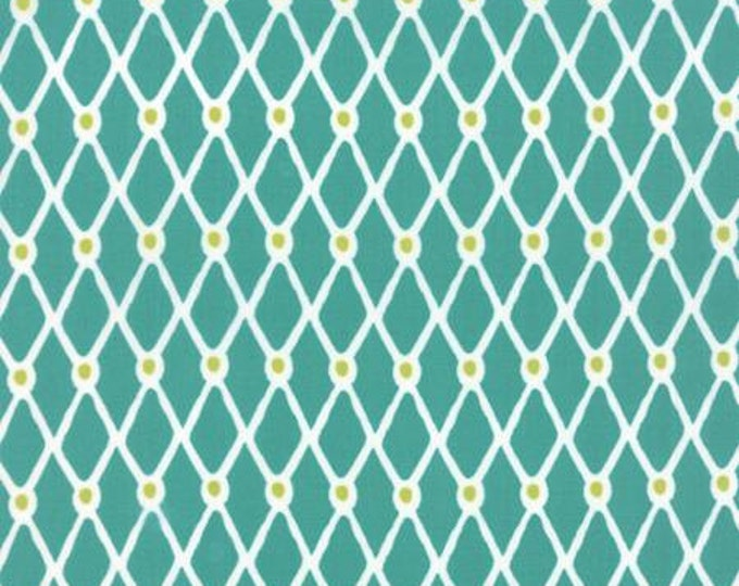 Beach House - Fishnet Turquoise Lime - 1/2 yd