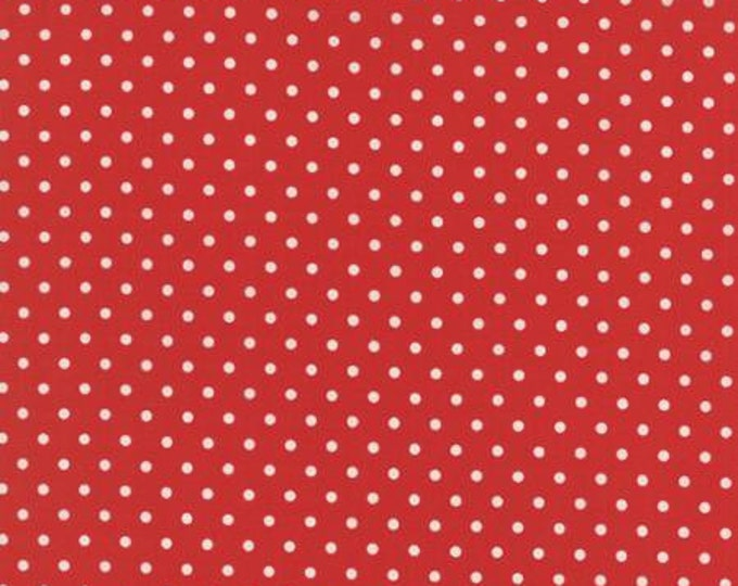 Bread n Butter Potluck Dot Red - 1/2yd