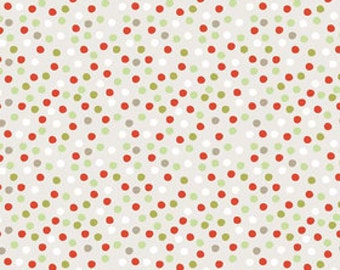 A Very Merry Christmas - Christmas Spot Soft Taupe - 1/2 yard