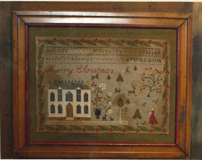 Christmas at Hollyberry Farm - Stacy Nash Primitives - Cross Stitch Chart