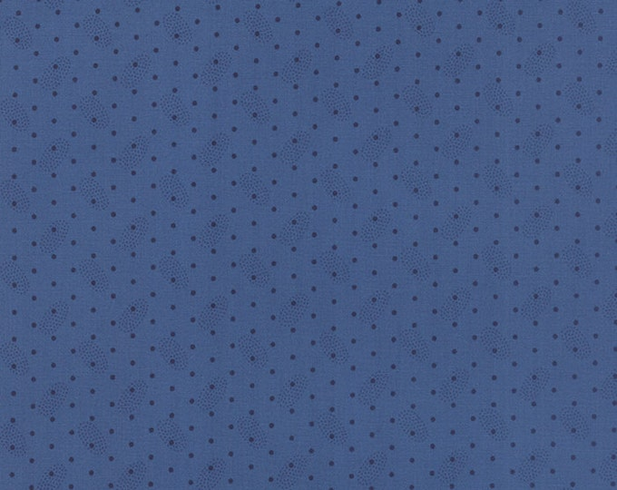 Polka Dots and Paisleys Ovals Faded Blue - 1/2yd