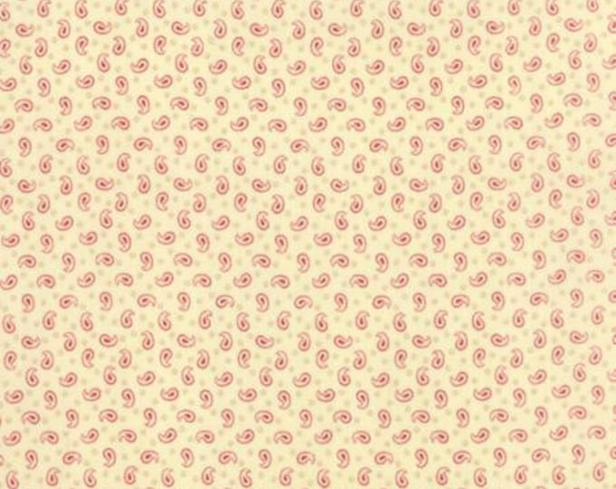 Polka Dots and Paisleys Mini Paisley Ivory Red - 1/2yd