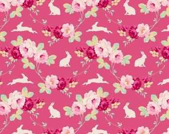 TILDA - Cabbage Rose Rabbit/Roses Pink