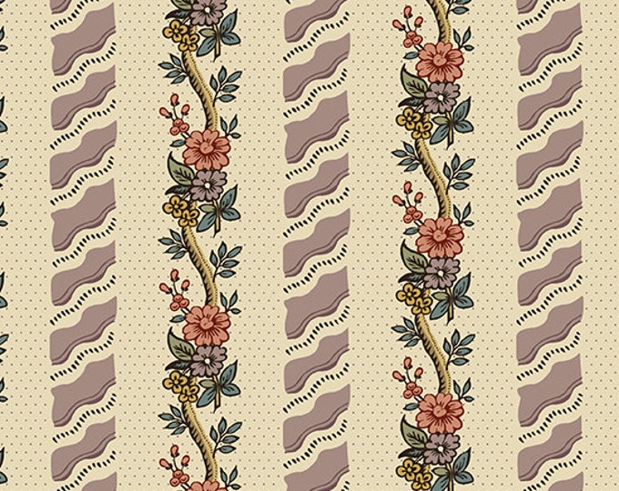 Windermere by Di Ford Hall - Curling Flowers Mauve 8919L  - 1/2yd