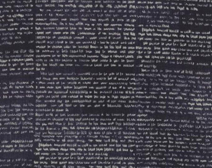 Wordsmith Text Dark Blue - 1/2yd