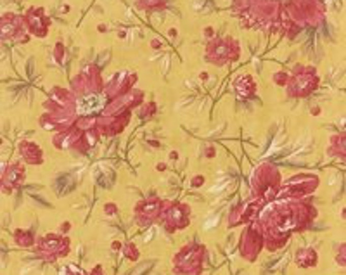 Larkspur Garden Blooms Yellow - 1/2yd