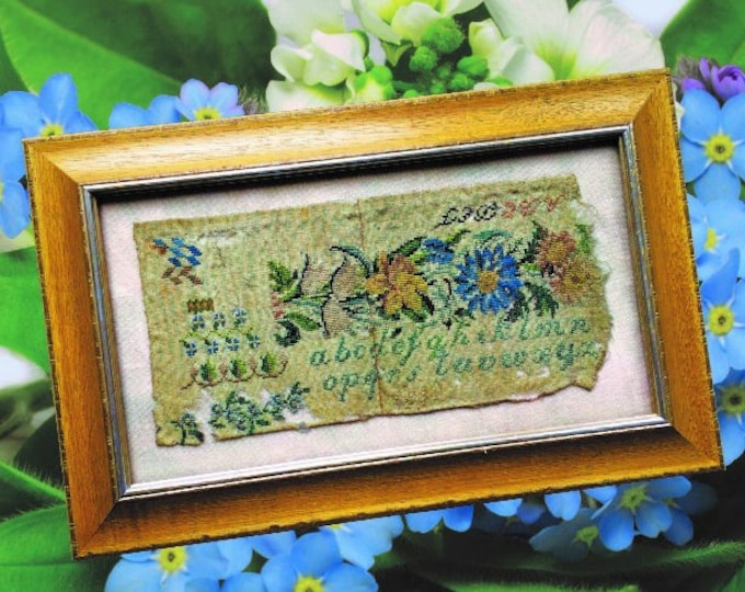 Antique Sampler Fragment 1834 - Cross Stitch Antiques - Cross Stitch Chart
