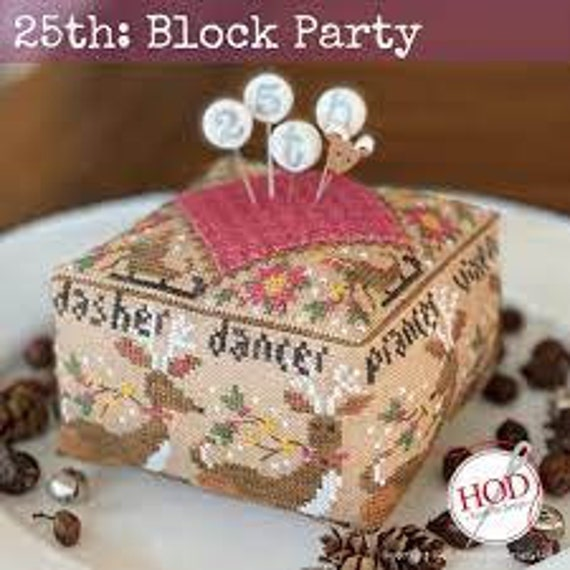 25th Block Party - Hands On Design - Chart + Wool Patch