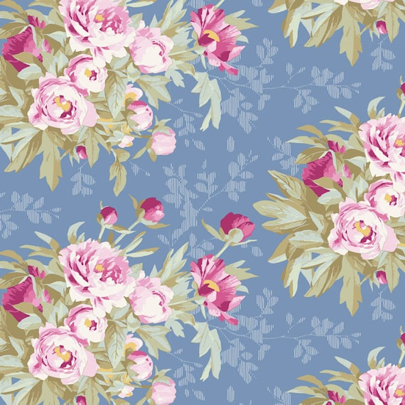 TILDA Woodland - Hazel Blue 100282 - Fat Quarter
