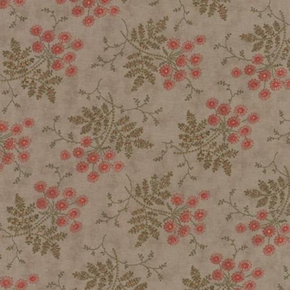 Larkspur Whispering Sprays Grey- 1/2yd