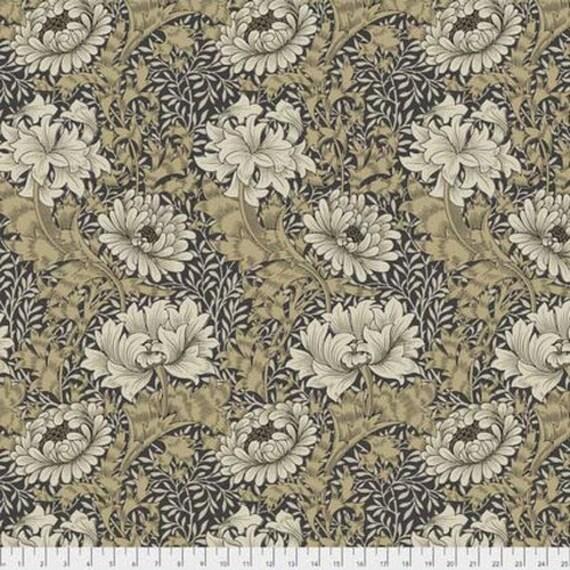 Morris & Co - Merton Chrysanthemum Taupe PWWM009 - 1/2yd