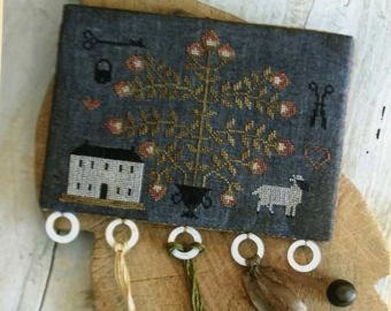 Midnight in the Strawberry Garden - Stacy Nash Primitives - Cross Stitch Chart