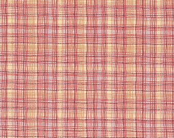 A Wandering Mind - Madras Check - Rose/Rust - 1/2 yd