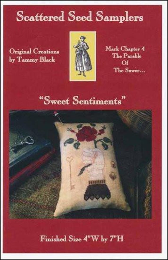 Sweet Sentiments by Scattered Seed Samplers - Cross Stitch Chart