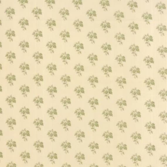 Country Orchard by Blackbird Designs - Grape Leaf Natural Cream - 1/2yd