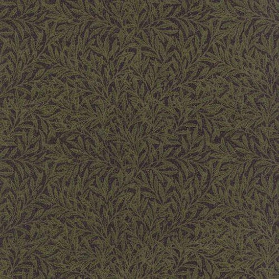 Morris Earthly Paradise Willow Black - 1/2yd
