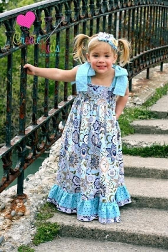 Helen's Maxi Dress - Girls Dress Pattern - 6mos - 8 yrs