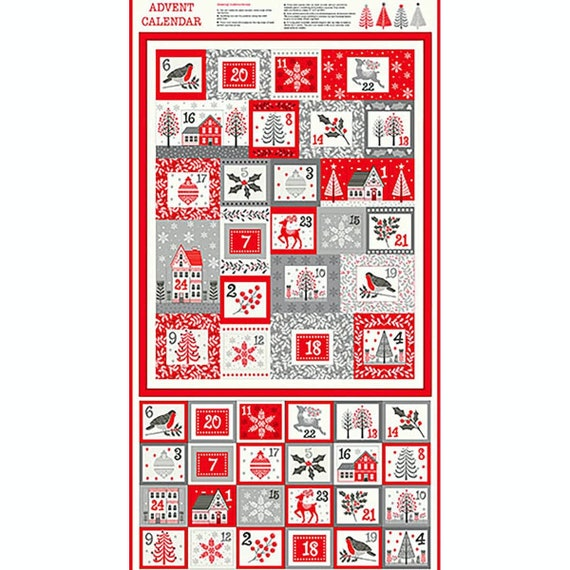 Scandi Advent Calendar 2223 - Fabric Panel