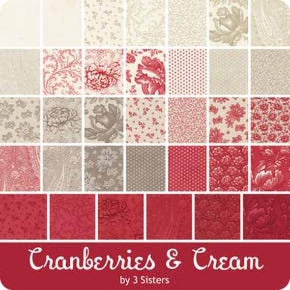 Cranberries and Cream - 3 Sisters - Mini Charms
