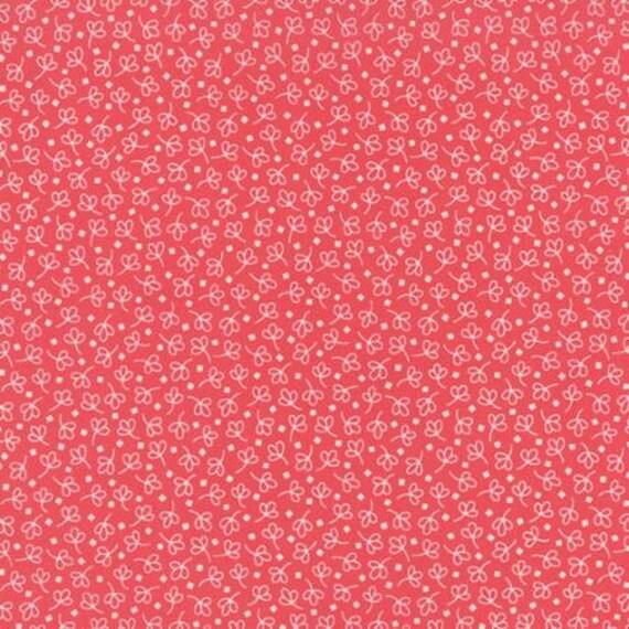 Bread n Butter Simple Leaf Pink - 1/2yd
