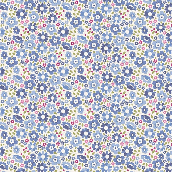 TILDA Woodland - Clara Blue 100285 - Fat Quarter