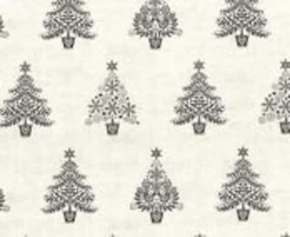 Christmas Village 1963S Grey - 1/2yd