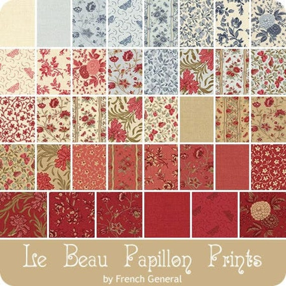 Le Beau Papillon by French General - 38 x Fat 8ths Bundle
