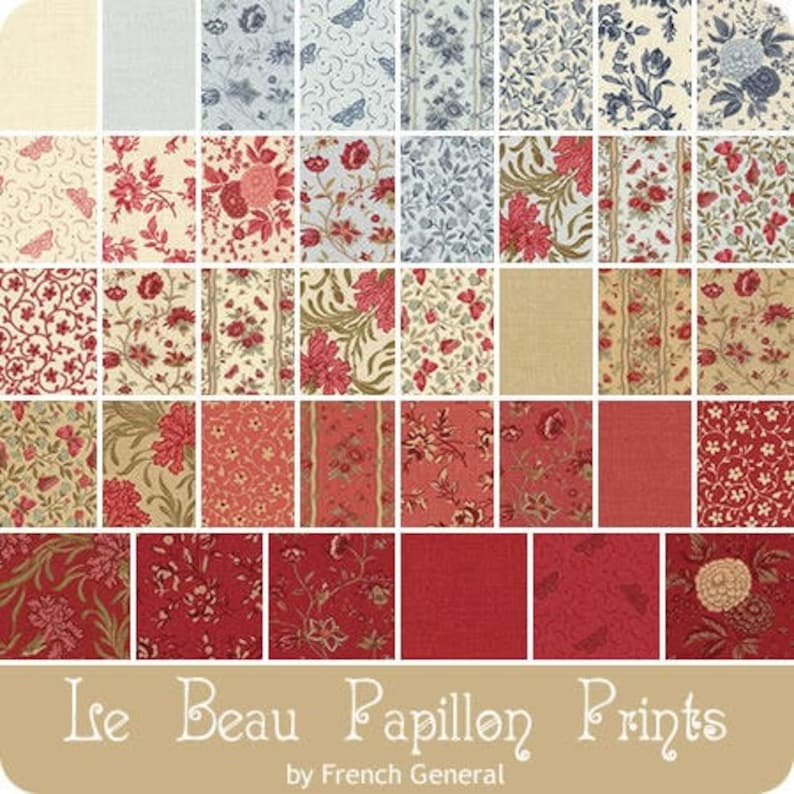 Le Beau Papillon by French General  38 x Fat 8ths Bundle image 0