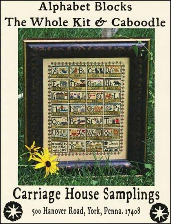 Alphabet Blocks: The Whole Kit and Caboodle - Carriage House Samplings - Cross Stitch Chart