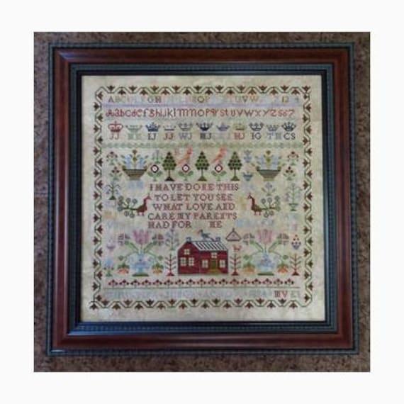 Christina Junor 1834 - Victorian Rose - Cross stitch chart