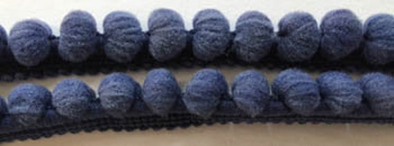 Pom Pom Trim by Dames of the Needle - Miguel's Navy - 2 yds