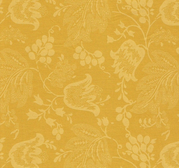 Dutch Chintz -Yellow-Gold - Ton sur Ton 1/2yd