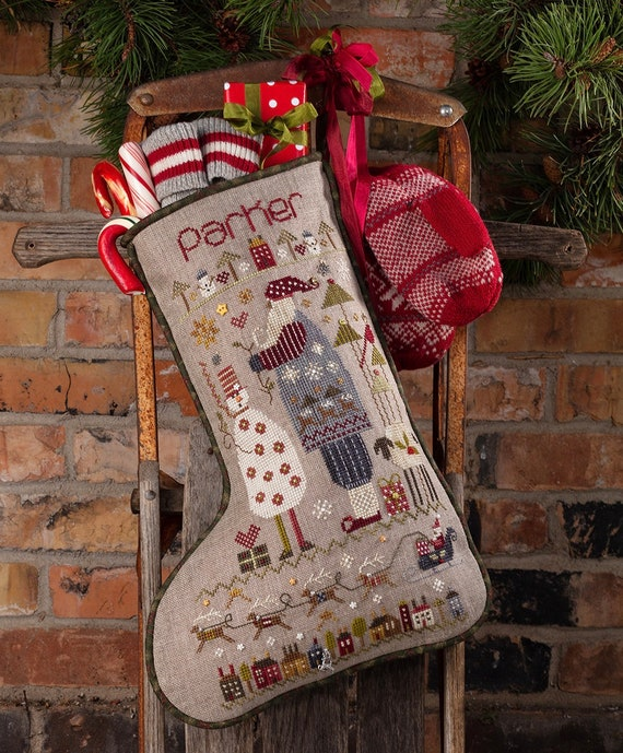 Parker's Stocking with Charms - Shepherd's Bush - Cross Stitch Chart
