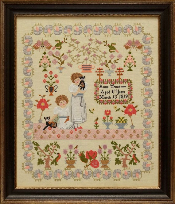 Ann Tench 1819 - Hands Across the Sea Samplers - Cross stitch chart