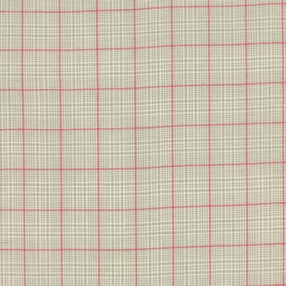 Petite Woven Silky Cotton Plaid Roche Rouge - 1/2yd