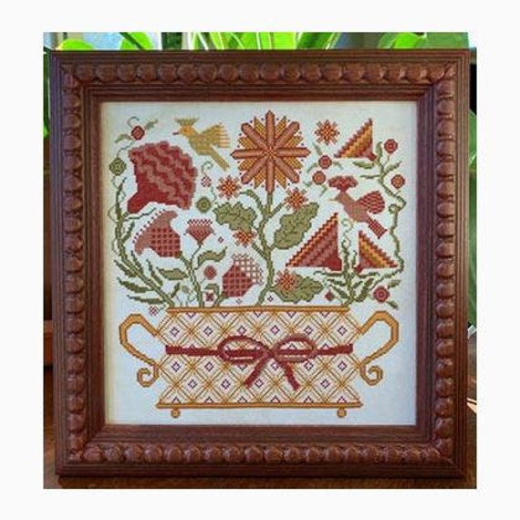 Blooming Basket - Carriage House Samplings - Cross Stitch Chart
