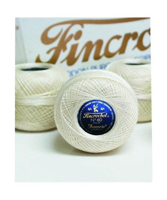 Presencia Fincrochet No. 60 - ECRU - 20gm Ball